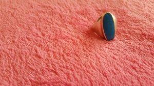 Silberner Ring mit türkis Stein