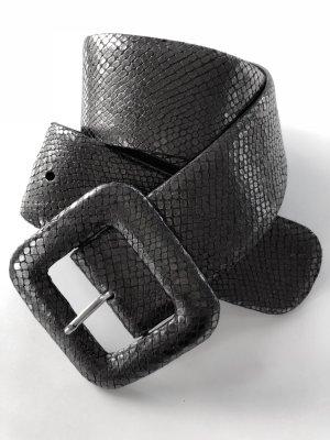 Silberner Schlangenledergürtel von René Lezard