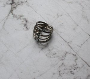 Silberner Statement Ring