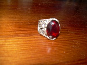 Statement Ring silver-colored-red