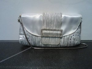 Bolso de mano color plata Fibra sintética