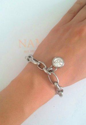 silbernes Armband mit Glitzerstein