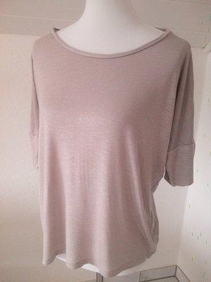 silbernes Fledermaus-Ärmel-Shirt,Amisu,Gr.S
