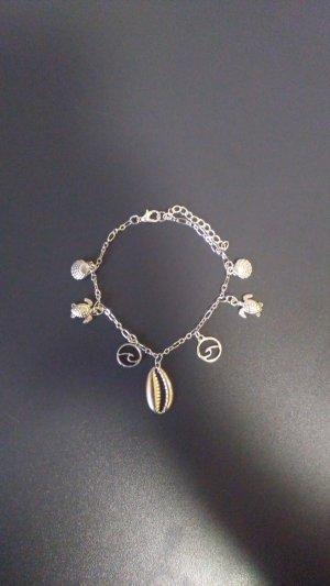 Jewelry & Watches Fashion Jewelry Adroit Fußkette Fußkettchen Silberfarben Lila Strass 24 Cm Online Shop