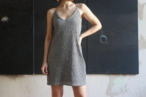 Silbernes Glitzer Party Mini-Kleid von Urban Outfiters