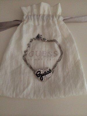 Silbernes Guess Armband mit Herz