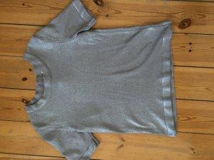 Silbernes Kurzarmshirt