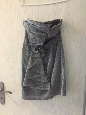 silbernes kurzes Kleid in Größe M