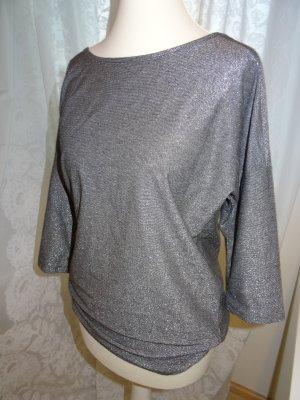 Silbernes oversized Shirt