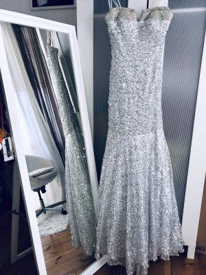 La Femme Robe de bal blanc-argenté