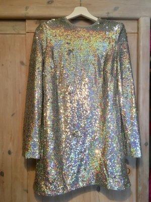 Silbernes Paillettenkleid