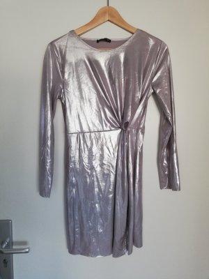 Silbernes Partykleid von Zara in Gr. S