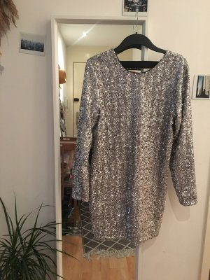 Silbernes Sequin-/Pailletten-Dress