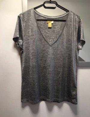 Silbernes Shirt H&M