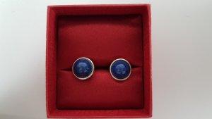 Silberohrringe mit blauem Stein