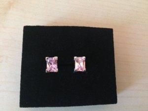 Silberohrringe mit rosa Zirkonia