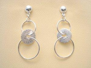 Silberohrstecker mit Ringe