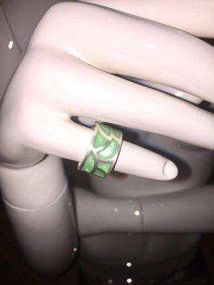 Zilveren ring zilver-munt