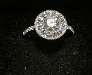 Zilveren ring wit