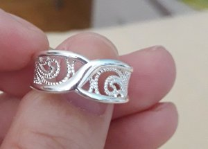 Anello d'argento bianco Argento