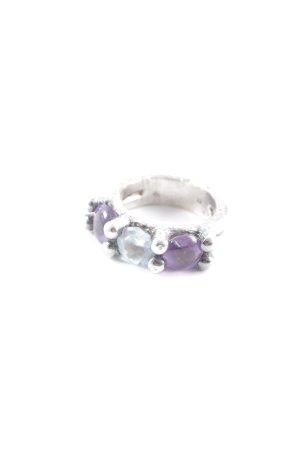 Silberring mehrfarbig extravaganter Stil