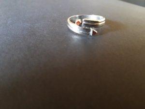 Anello d'argento argento-ruggine