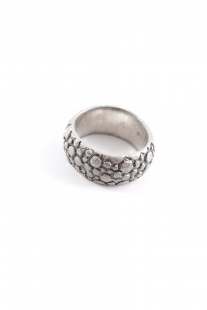Silver Ring silver-colored abstract pattern vintage look