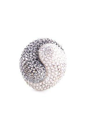 Silberring silberfarben-dunkelgrau Elegant