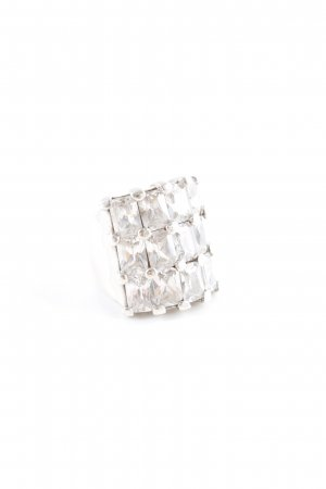 Silberring silberfarben extravaganter Stil