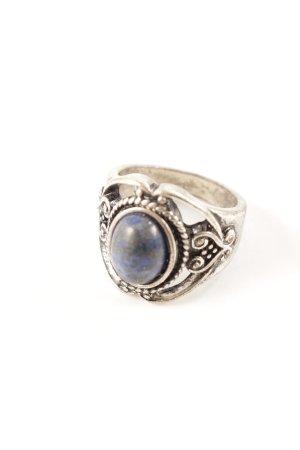 Silberring stahlblau Elegant