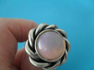 Silberring verstellbar - 925 Sterling Silber - Rosenquarz