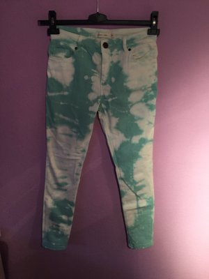 Silence + Noise Tube Jeans white-turquoise
