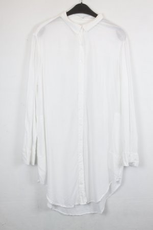 Silence + Noise Long Blouse white rayon