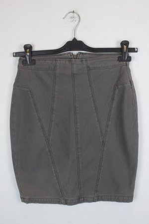 Silence+Noise High Waist Rock Gr. S Denim Stretch grau braun (18/3/220)
