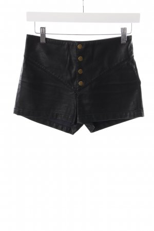 Silence + Noise High-Waist-Shorts schwarz Leder-Optik