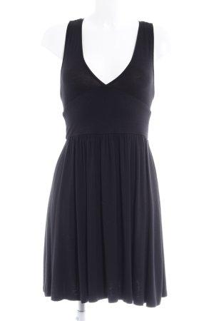 Silence + Noise Jerseykleid schwarz Elegant