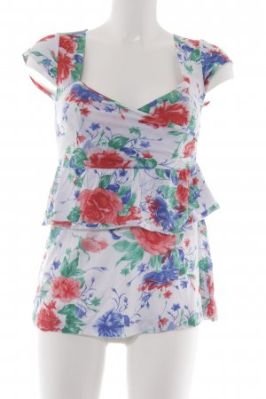 Silence + Noise Camisa cruzada estampado floral estilo romántico