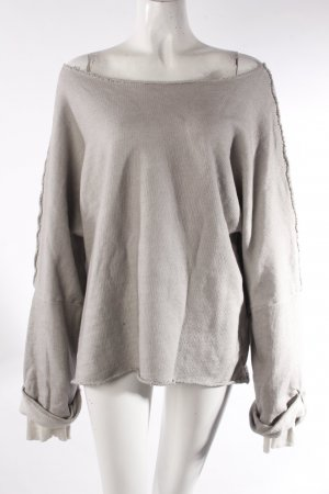 Silent Oversized Pullover Grau