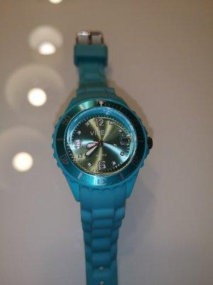 Silikon Armbanduhr türkisblau inkl. Batterie