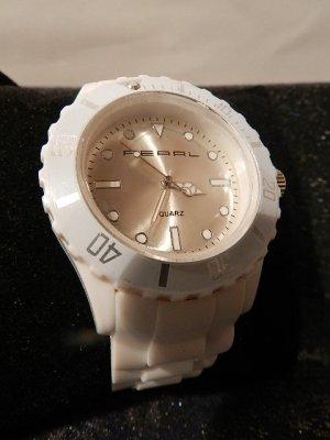 Silikon Armbanduhr Winterweiß-Frauen/Männer Armbanduhr Sportuhr-Leuchtzeiger neu