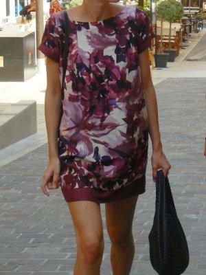Max & Co. Robe courte violet-blanc soie