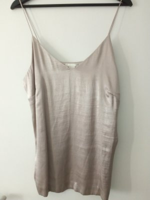 Woman Collection H&M Silk Top silver-colored-mauve