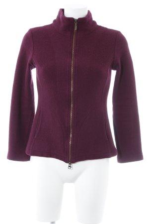 Silkroad Veste en laine violet style décontracté