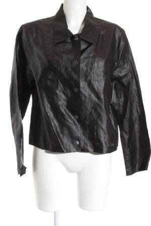 Silkwear Seidenbluse dunkelbraun schlichter Stil