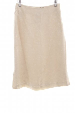 Silkwear Silk Skirt cream-oatmeal flower pattern business style