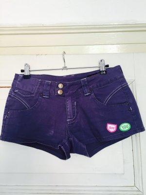 SILVAN HEACH, Kurze Jeans-Shorts mit Applikationen, Größe 28