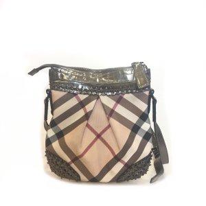 Silver Burberry Cross Body Bag