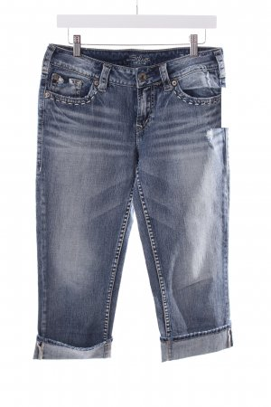 Silver Capris blue-natural white second hand look