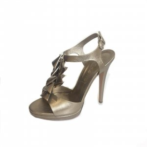 Casadei High-Heeled Sandals silver-colored