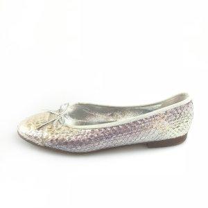 Silver Chanel Flat